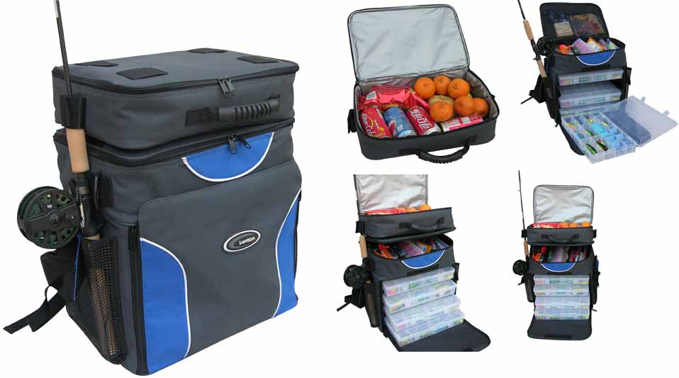 It can hold three fishing reels and essentials in middle part